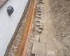 Drainage der Zuwegung zum Terrassenvorbau aus Lärchenholz