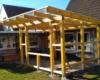 Lärchenholzbalken für Terrassenvorbau