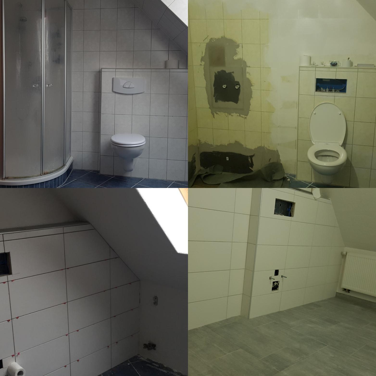 Badezimmer unter großer Dachschräge optimal gestalten ...